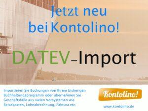 Kontolino! hat jetzt eine Importschnittstelle für DATEV-Buchungsstapel
