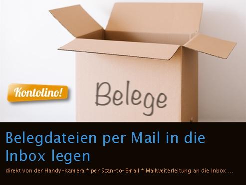 Belegeinbox von Kontolino!