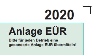 Anlage EÜR 2020 mit Kontolino! erstellen
